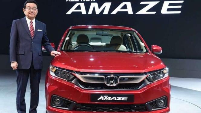 Honda Amaze versi terbaru.
