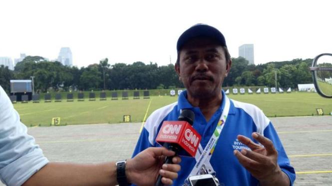 Manajer venue pertandingan panahan, Tatang Feri Budiman