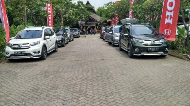 Acara Honda BR-V menuju Kamojang, Garut, Jawa Barat.