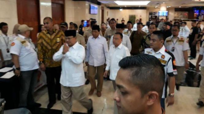 Ketua Umum Partai Gerindra Prabowo Subianto menghadiri Rakornas Satria