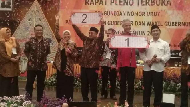 Sudirman Said dan Ganjar Prabowo mengabil nomor urut.