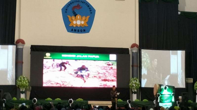 Presiden Joko Widodo membukan Kongres HMI di Universitas Pattimura, Ambon