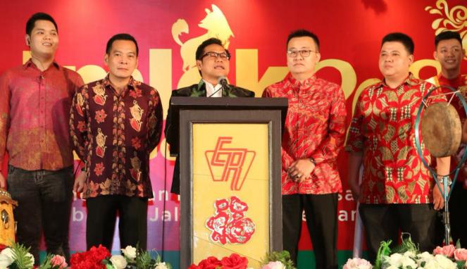 Ketua Umum PKB Muhaimin Iskandar alias Cak Imin (tengah).