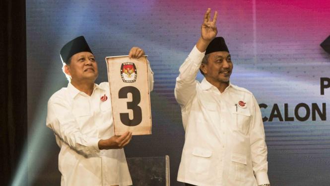 Cagub dan Cawagub Jawa Barat, Sudrajat (kiri) - Ahmad Syaikhu (kanan)