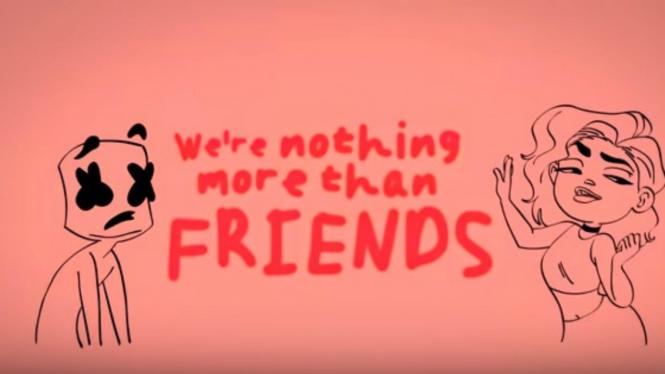 Video Klip Friends oleh Marshmello dan Anne Marie.