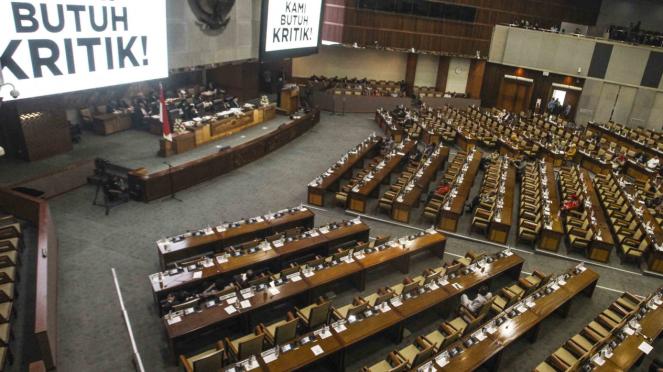 Suasana Rapat Paripurna Penutupan Masa Sidang di Komplek Parlemen DPR/MPR RI.