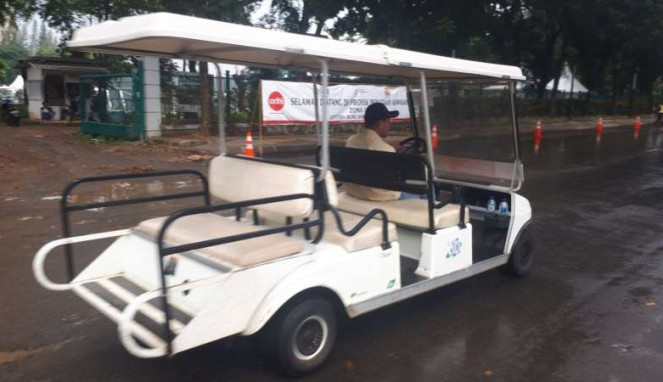 Mobil Golf di Test Event Asian Games 2018 di kawasan GBK