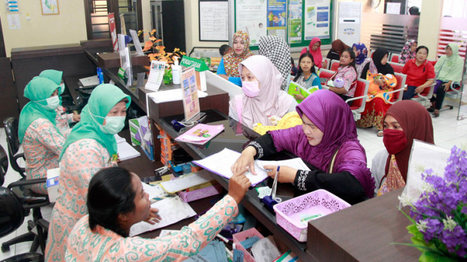 Ilustrasi layanan kesehatan di Indonesia.