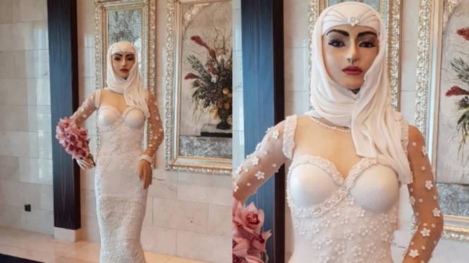 Kue pengantin Arab karya Debbie Wingham.