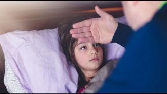 Ilustrasi anak sakit.