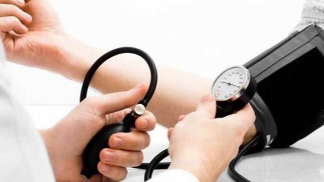 Ilustrasi hipertensi atau tekanan darah tinggi.
