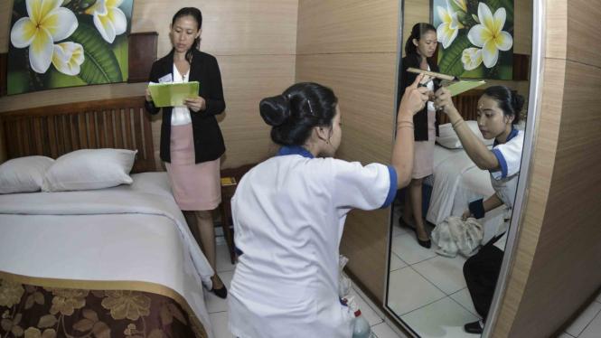 Uji Kompetensi Keahlian jurusan Akomodasi Perhotelan siswa SMK di Bali