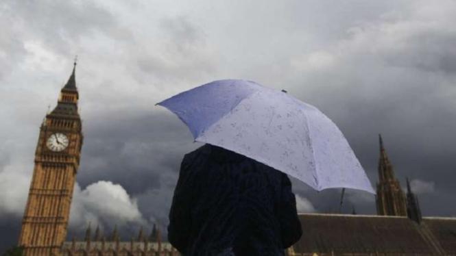 Cuaca buruk di London, Inggris