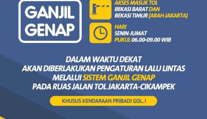 Ganjil Genap Tol Jakarta-Cikampek