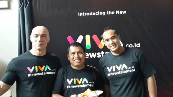 Syukuran peluncuran logo baru VIVA.co.id di Jakarta, Kamis 22 Februari 2018