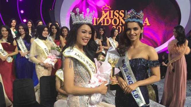 Alya Nurshabrina berhasil menyabet gelar Miss Indonesia 2018