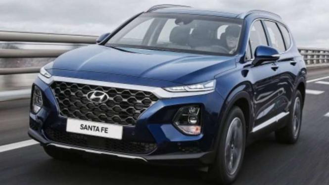 Hyundai Santa Fe generasi terbaru.