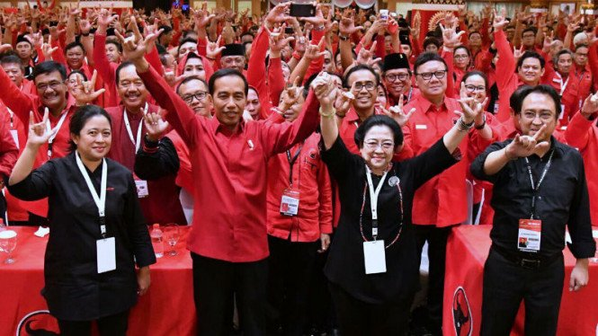 Ilustrasu PDIP ketika usung Joko Widodo jadi calon presiden 2019