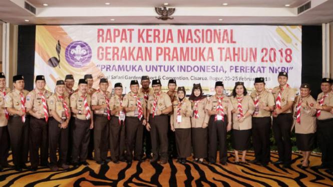 Rapat Kerja Nasional Gerakan Pramuka 2018.