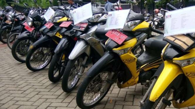 Motor-motor operasional KPK yang akan dilelang.