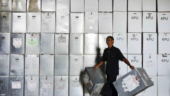 Kotak suara logistik Pemilu/Ilustrasi.