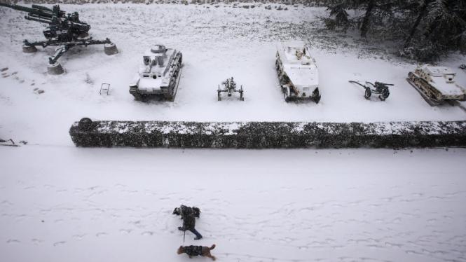 Hujan salju ekstrem di Eropa