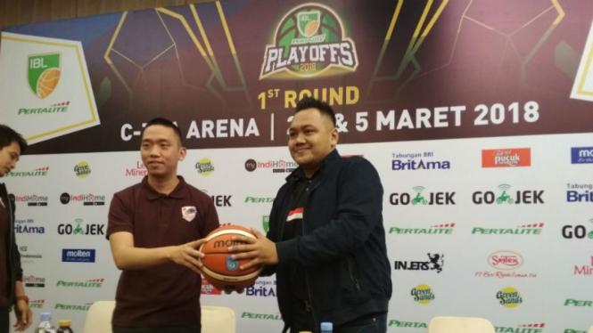 Jelang playoff IBL 2017/18, Garuda Bandung versus BSB Hangtuah