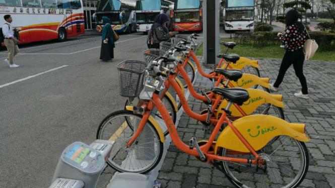 Sepeda untuk transportasi publik di Taouyuan, Taiwan