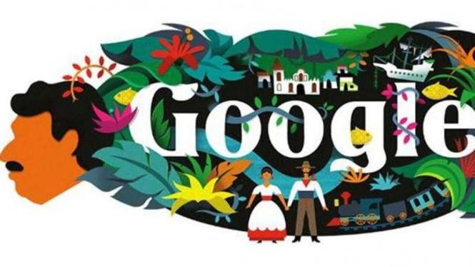 Google Doodle Gabriel Garcia Marquez.