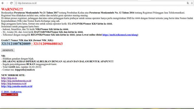 Situs Pengumbar Nik Dan Kk Gratis Doyan Ganti Domain Viva