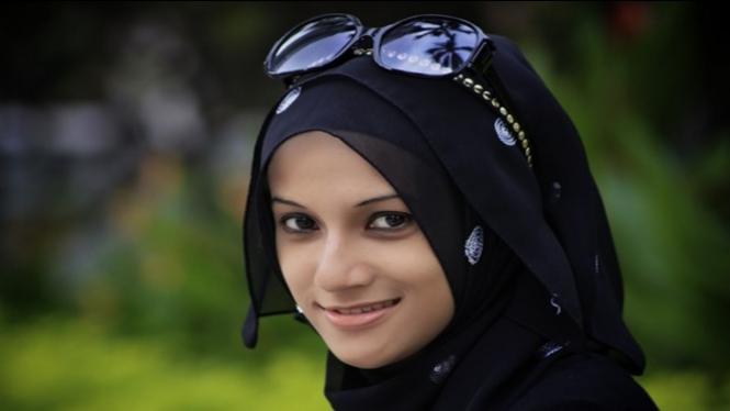 Wanita muslim cantik.