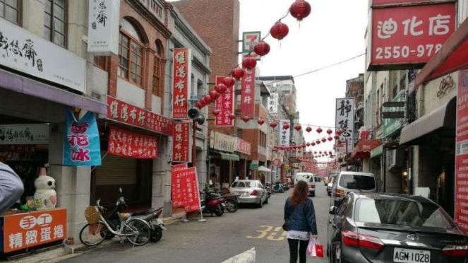 Suasana di Dihua Street, Taipei, Taiwan