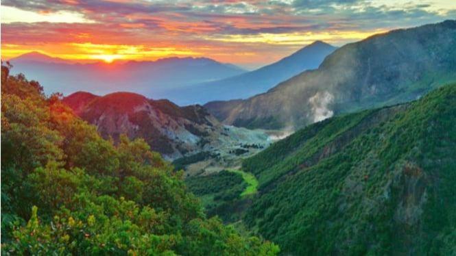 Pemandangan Menakjubkan di Puncak Gunung Papandayan