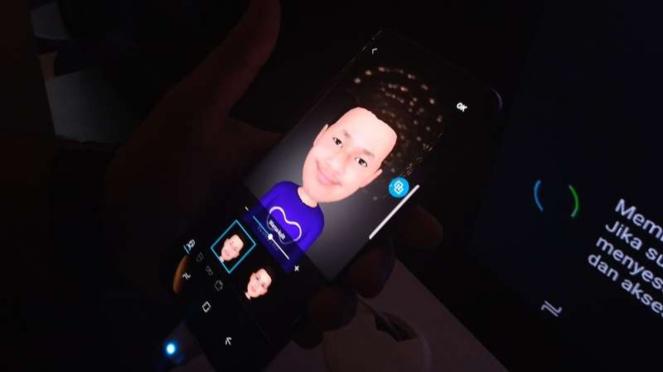 AR Emoji di Samsung Galaxy S9.