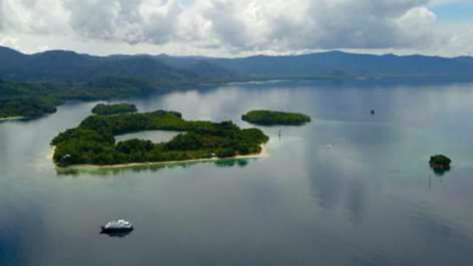 Pemandangan di Halmahera Selatan yang mirip Raja Ampat