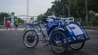 Becak Listrik Jakarta