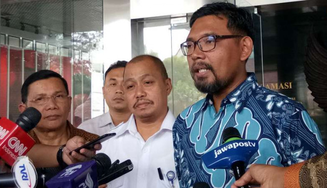 Direktur Gratifikasi KPK, Giri Suprapdiono, di Istana Bogor, Jawa Barat.