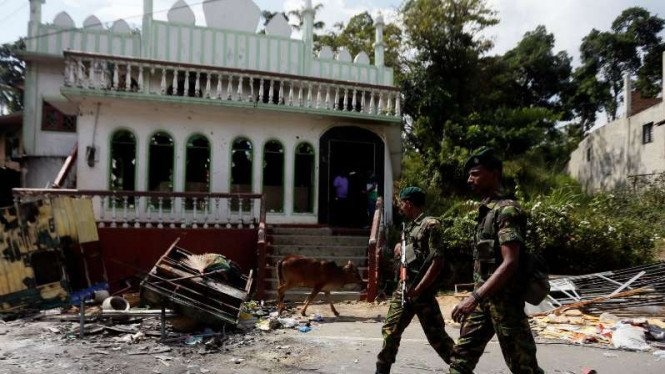 Masjid dirusak di Sri Lanka, militer berjaga