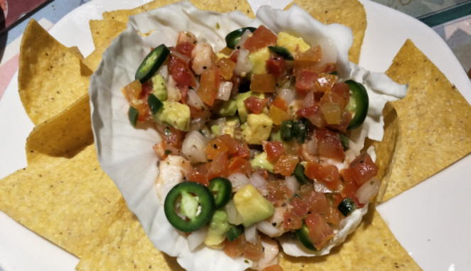 Shrimp and Avocado Ceviche.