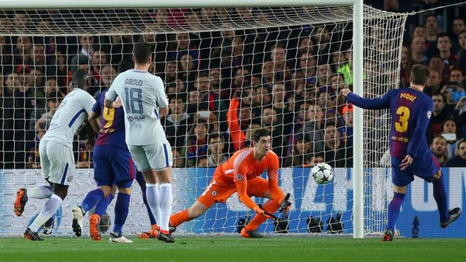 Pertandingan Barcelona vs Chelsea di Liga Champions