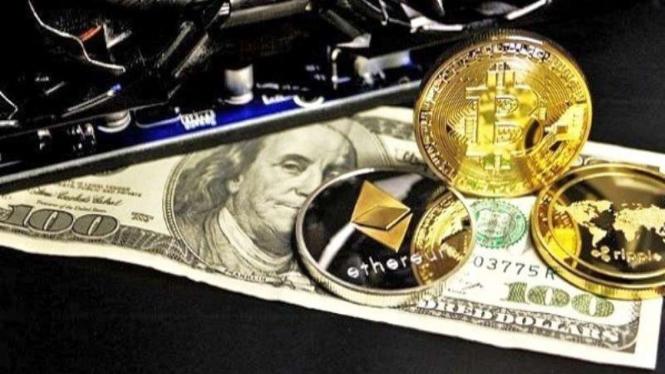 Ilustrasi uang digital.