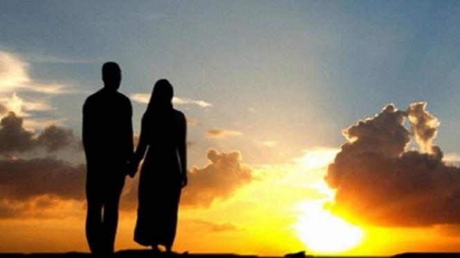 Ilustrasi Ali bin Abi Thalib dan Fatimah.