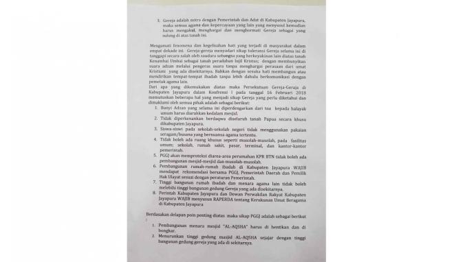 Surat Persekutuan Gereja Jayapura PGGJ
