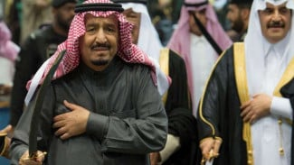 Raja Salman bin Abdulaziz Al Saud di Festival Janadriyah, Riyadh, Arab Saudi.