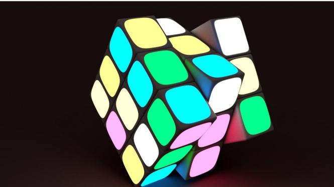 Robot Pecahkan Rekor Teka-teki Rubik Secepat Kilat