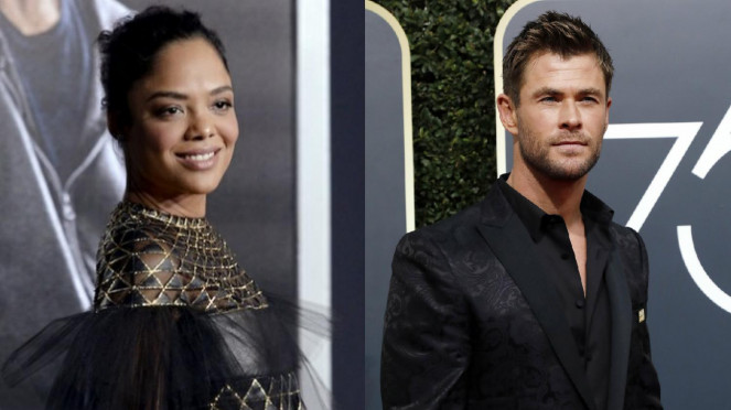 Tessa Thompson dan Chris Hemsworth