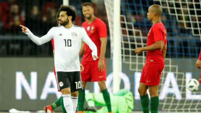 Mohamed Salah bersama timnas Mesir