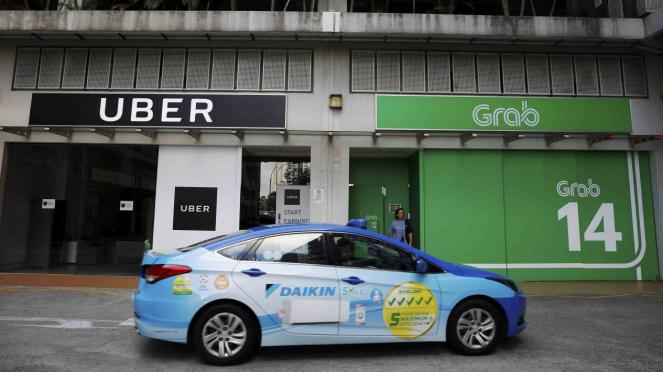 Kantor Uber dan Grab.