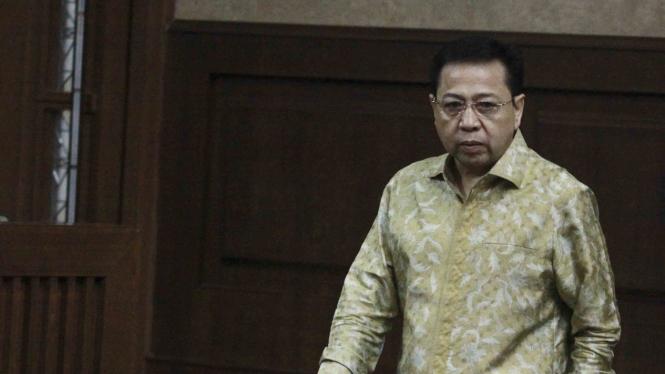Terdakwa kasus korupsi KTP Elektronik, Setya Novanto.