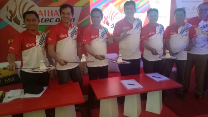 Acara konferensi pers Daihatsu Astec Open di Makassar